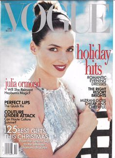VOGUE MAGAZINE December 1995 Julia Ormond vintage fashion | eBay