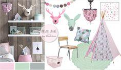 Kidsdepot Kinderzimmer in rosa, mint & grau