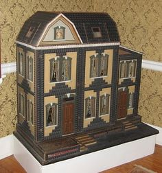 Ann Meehan Collection One of the most exciting days in our dollhouse lives - Dolls' Houses Past & Present (Schwartz mystery house)