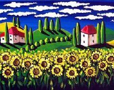 Impresión de Giclee de Whimsical arte popular por reniebritenbucher