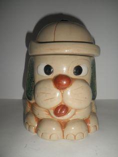 Hound Dog doggie treat jar