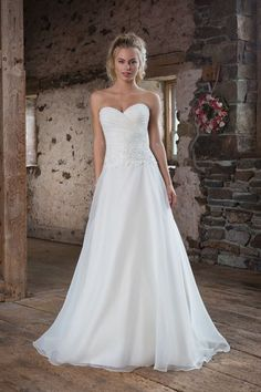 Sweetheart Gowns - Style 1105: Asymmetrical Ruched Organza A-Line Gown