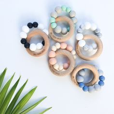 DUO Silicone and Beech Wood Teether