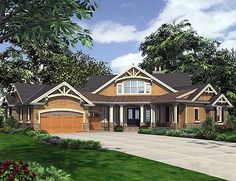 Plan W23253JD: Dramatic Craftsman Home Plan