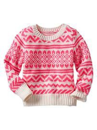 Fair Isle crewneck sweater GAP