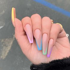 30 Perfect Coffin Acrylic Nails Designs To Sport This Season - Classic French Coffin Nails ❤ 30 Coffin Nail Designs You'll Want To Wear Right Now ❤ See mo - Coffin Shape Nails, Coffin Nails Long, Long Nails, Long French Tip Nails, Nail French, Ombre French, Long Nail Art, Nails Shape, Short Nails