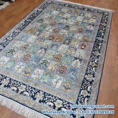 B34   6' x 9' Persian Rug, Silk Face and Silk Fringe, 324kpsi Handmade Rug Made By Yilong Carpet.