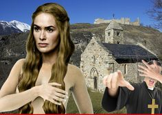 The most coveted boobs on TV may stay covered ... and you can blame the church.  Everybody -- actually 90% of men based on Kinsey and probably 40% of women -- are drooling at the prospect of ogling Cersei Lannister\'s royal cans.    Here\'s the problem. The scene calls for Cersei -- played by Lena Headey -- to walk out of a church and onto the streets of King\'s Landing in the buff. The scene is supposed to be shot in Dubrovnik, Croatia, where the church has a lot of power and a rigid policy…