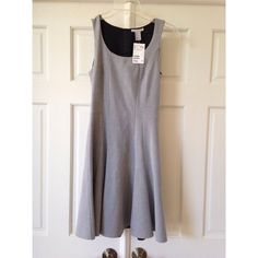 Gray sleeveless dress Very nice tailored fit gray dress. Fit &hand flair style cut. H&M Dresses