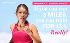 Beginners Half Marathon Training Tips.  And what it says is true!  This is what made me go for it and I did it!