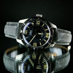 Oris Diver 65 on our Gray Tactical Strap!!!!