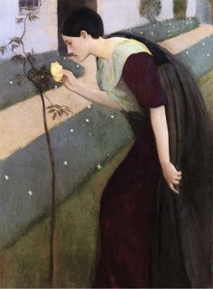 Kenneth Frazier, Woman with a Rose, 1891-1892