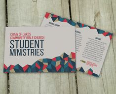 Youth Ministry branding package, postcard, brochure, calendar, business card invite. Great stuff!