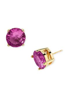 kate spade new york colored stone stud earrings