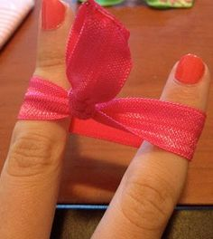 These are the best hair ties! They do not leave dents in your hair. Save some money and make your own...easy tutorial and all the supplies are right at your local craft store. - The Beauty Thesis