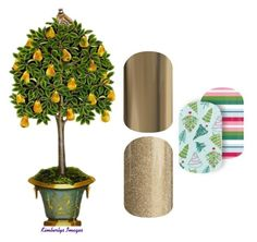 """""""12 Days of Christmas - Jamberry"""" by kspantongroup on Polyvore featuring beauty"""