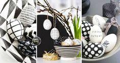Pasqua in bianco e nero. Vi piace decorare la vostra casa durante le feste? Sta arrivando Pasqua e oggi abbiamo selezionato per voi, 15 idee per decorare... Art And Craft, Inspirer, Diy, Crafts, Voici, Party, Easter Party, Recycling, Black N White