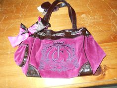 Large Magenta Velour Juicy Couture Purse #JuicyCouture #Satchel