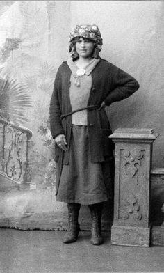 Drar fram Røros sin usynlige taterhistorie | Retten PORTRETT: Fotograf Iv. Olsen tokk dette portrettet av Marie Fredriksen i 1924