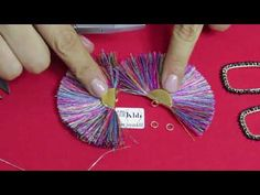 This video shows how to make Tassel Earrings. A new trendy tassel earrings Material Required: * Silk thread * Fabric Glue * Cardboard * Canvas Cloth * Stone. Diy Tassel Earrings, Diy Leather Earrings, Tassel Jewelry, Beaded Earrings, Wire Jewelry, Earrings Handmade, Jewelry Crafts, Beaded Jewelry, Crochet Earrings