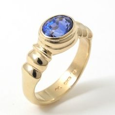 Caleb Meyer Studio Blue Sapphire Ring;  Archive #2262