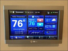 """Trane 7"""" ComfortLink II Smart Control Energy Command Center with Remote Access  #H3Homes"""
