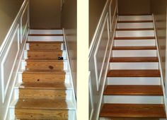 StareCasing System - no time or desire to refinish those stairs you just ripped the carpet off of?? Then you need this...... StareCasing System three-step installation process, you just measure, cut and install. The patented tread and riser overlays fit over your existing staircase like a glove. No messy demolition. No guesswork. Just beautiful hardwood stairs. --- In hours you have new stairs and you still have your hair. ;^)