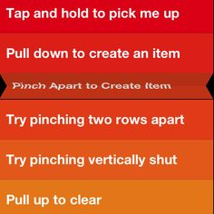 Reverse pinch to add a new task between others...'Pop'