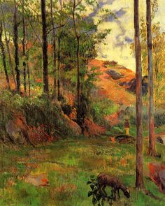 Paul Gauguin (1848-1903) - 1888, Path down to the Aven