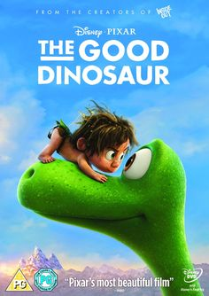 """The Good Dinosaur (2015) directed by Peter Sohn, starring the voices of Jeffrey Wright, Frances Mc Dormand, Jack McGraw, Raymond Ochoa, Jack Bright, Steve Zahn, Anna Paquin and Sam Elliott. """"In a world where dinosaurs and humans live side-by-side, an Apatosaurus named Arlo makes an unlikely human friend."""""""