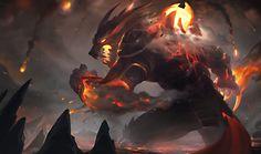 ArtStation - Firefang warwick splash art, xi zhang