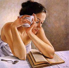 Las mujeres lectoras de Francine Van Hove   Las Lecturas de Mr. Davidmore
