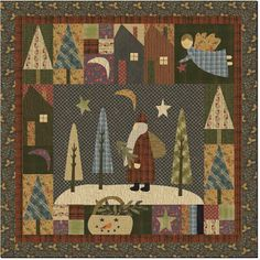 This quilter, Jan Patek, is my favorite primitive quilt artist. I have been buying her books since the early 90's! Her work is beautiful.