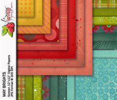 Digital Paper for scrapbooking websites blogs by BerryLovelyPixels, $3.50
