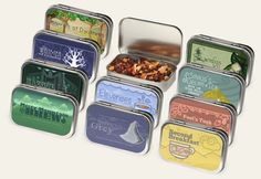 """Tolkien tea sampler! Adagio tea has some of the best """"fandom"""" blends.... and this looks like a fun way to try them."""