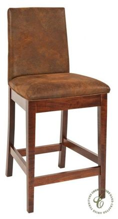 Luxurious full grain leather upholstery tops our Duvall Upholstered Pub Chair which features a solid wood frame as well as mortise and tenon joinery.