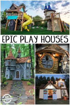 These aren't your typical backyard playgrounds. Tyson and Audy Leavitt build epic playhouses for kids that you have to see to believe with their Castle Playhouse, Outside Playhouse, Build A Playhouse, Playhouse Outdoor, Playhouse Ideas, Outside Playground, Backyard Playground, Children Playground, Kids Play Spaces