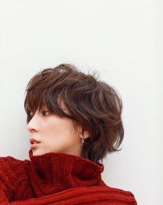 Pin on 髪型 Shortish Hair, Short Permed Hair, Shaggy Short Hair, Medium Short Hair, Cute Hairstyles For Short Hair, Short Bob Hairstyles, Pretty Hairstyles, Short Hair Cuts, Medium Hair Styles