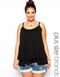 New Look Inspire Double Layer Swing Cami Top
