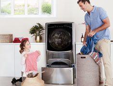 Key Features TWINWash™ Front Load Washer / Dryer Combo MiniWasher Pause and Add Inverter Direct Drive Motor TrueSteam®
