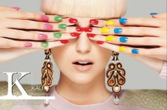 This spring, play with a harmonious fusion of delicate sand colors and brights... - Dori's Brooklyn earrings as seen in Vogue Accessory magazine.