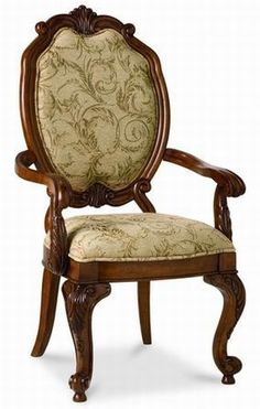 Terracina Sienna Collection brownish-red arm chair in old-world design