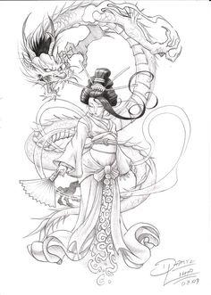 geisha. by danihell-lima on DeviantArt