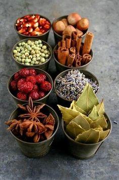 Для горячего молока: шафран, корица, кардамон. Для мяса: орегано, черный, красный или душистый перец, лук, гвоздика, куркума, майоран, тимьян, тмин. Для выпечки: ваниль, гвоздика, мак, корица, кунжут, бадьян, анис, имбирь, цитрусовая цедра, душистый перец, кардамон. Для птицы: базилик, тимьян, чабрец, майоран, шалфей, розмарин. Для паштетов: кардамон, белый перец, имбирь, корица, бадьян, лавровый лист, гвоздика. Для […]