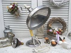 Vintage Tischlampen - alte Lampe Strahler für's Loft Schreibtischlampe - ein Designerstück von artdecoundso bei DaWanda