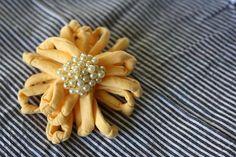 tshirt flower w/ brooch