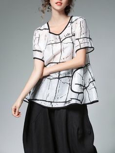 9e683b62 Fashionable Miting Women Casual Loose Printed Patchwork O-Neck T-Shirts  Online