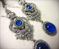 Hey, I found this really awesome Etsy listing at https://www.etsy.com/listing/177167324/sapphire-jewel-renaissance-earrings-blue