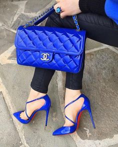 💙💙 Blues 💙💙 [Chanel Diary 📷 by . ----------------------- Join our largest Chanel community to buy, sell, and chat… Luxury Shoes, Luxury Bags, Shoe Boots, Shoes Heels, Shoe Bag, Chanel Small Bag, Basson, Madrid, Red Bottom Shoes