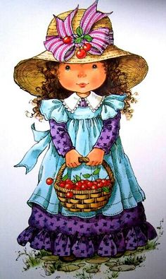 quenalbertini: Mary May Art Sarah Key, Holly Hobbie, Cute Images, Pretty Pictures, Mary May, Cute Clipart, Polychromos, Illustrations, Cute Illustration
